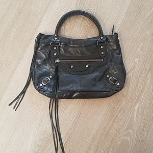 Balenciaga Classic City Bag Black Tasseled